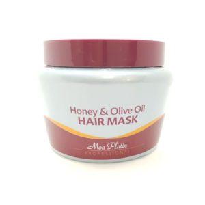מסכה לשיער עשירה בשמן זית ודבש  לכל סוגי השיער מון פלטין MON PLATIN
