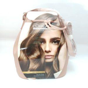 שמפו מסכה ושמן + תיק אופנתי מתנה לשיער יבש של לוריאל  LOREAL