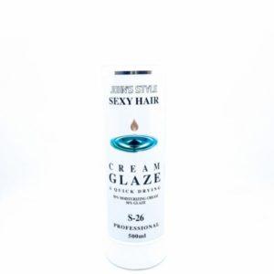 קרם גלייז 26 לבנייה חיזוק עיצוב השיער סקסי הייר