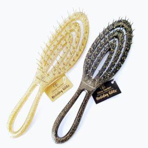 מברשת שיער מיני שחור זהב מנוצנץ אוליביה גרדן Olivia Garden