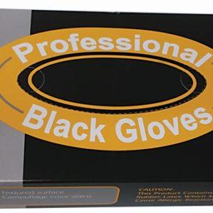 כפפות שחור מידה M L S לטקס רב פעמי ללא טלק