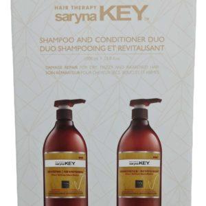 מארז לשיער יבש פגום מוחלק חמאת שיאה שמפו+מרכך סרינה קיי  saryna KEY